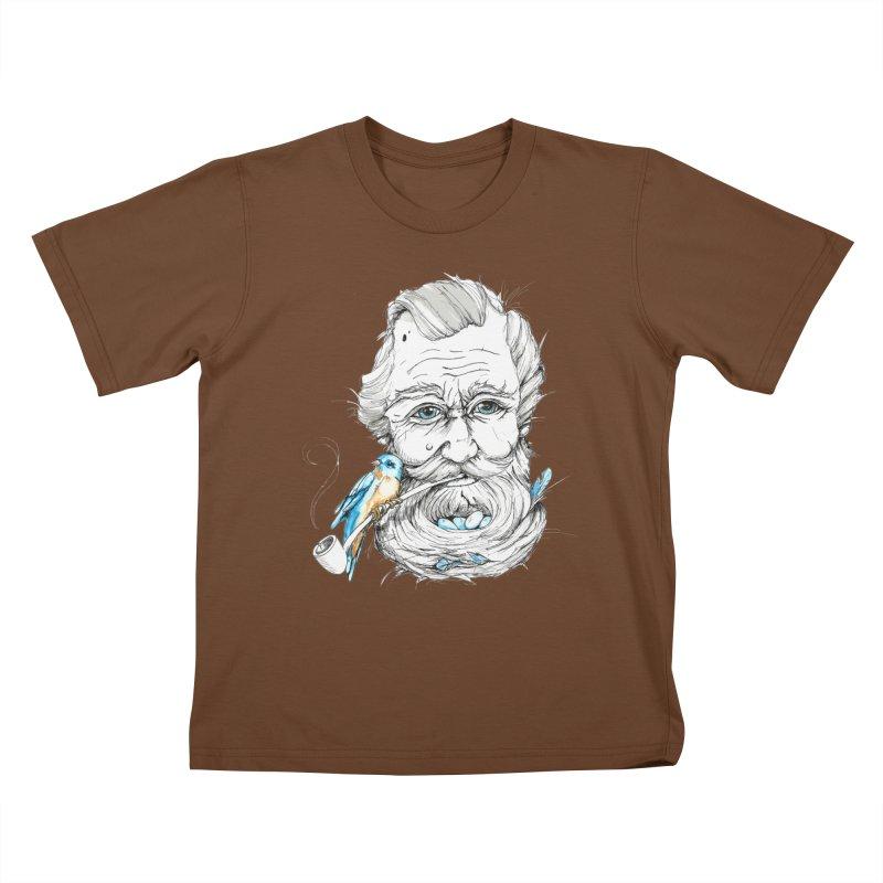 Beards Nest Kids T-shirt by jojostudio's Artist Shop