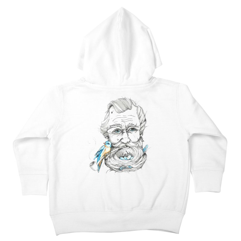 Beards Nest Kids Toddler Zip-Up Hoody by jojostudio's Artist Shop