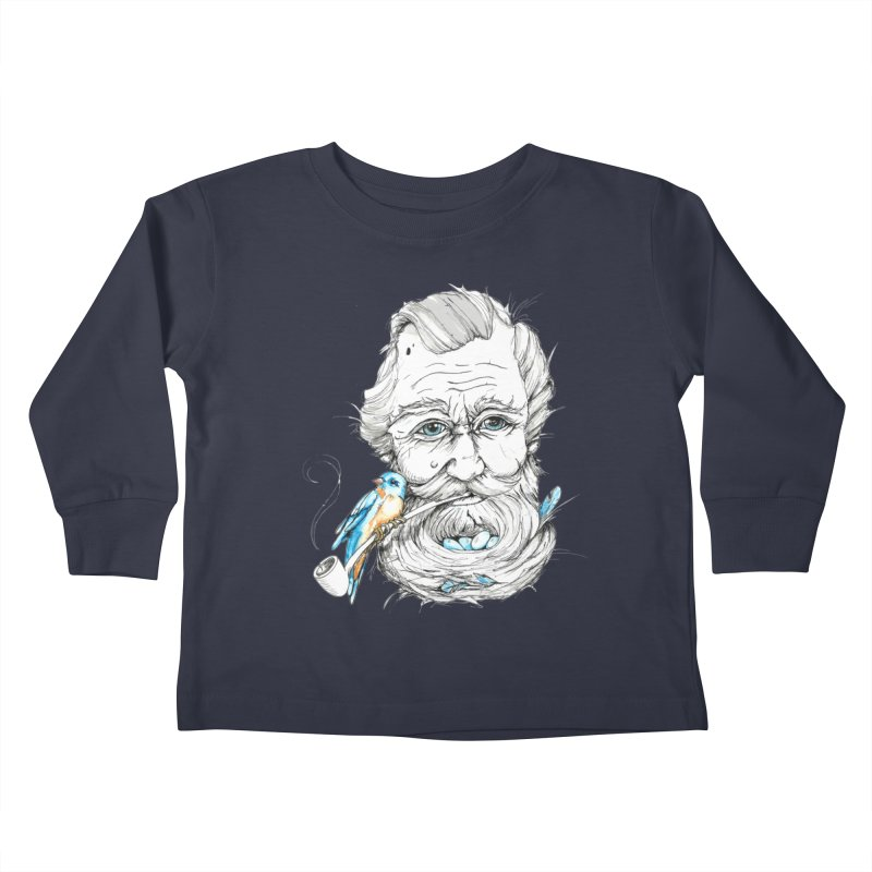 Beards Nest Kids Toddler Longsleeve T-Shirt by jojostudio's Artist Shop