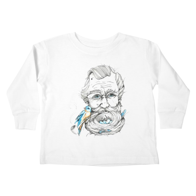 Beards Nest Kids Toddler Longsleeve T-Shirt by jojostudio's Artist Shop