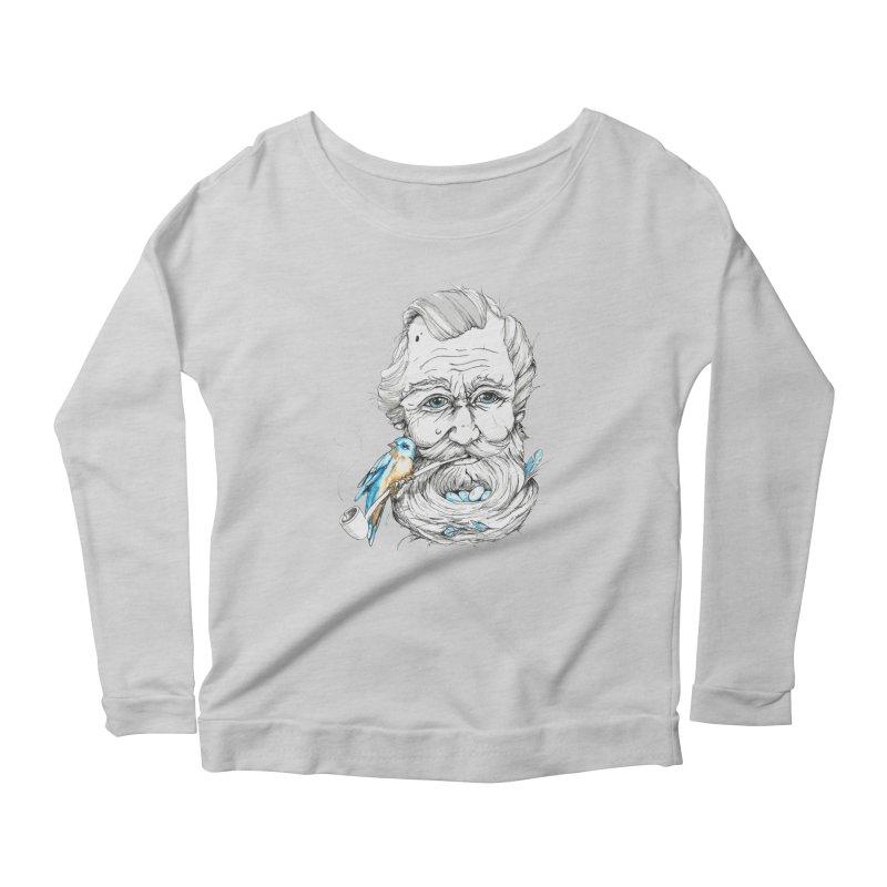 Beards Nest Women's Scoop Neck Longsleeve T-Shirt by jojostudio's Artist Shop