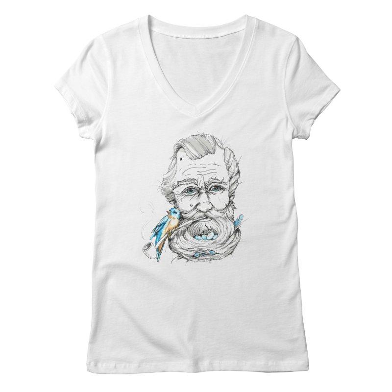 Beards Nest Women's Regular V-Neck by jojostudio's Artist Shop