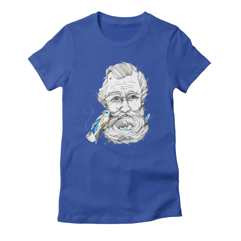 Beards Nest Women's Fitted T-Shirt by jojostudio's Artist Shop