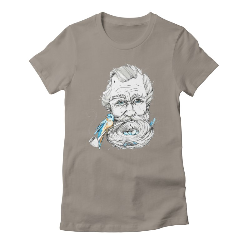 Beards Nest Women's Fitted T-Shirt by jojostudio's Artist Shop