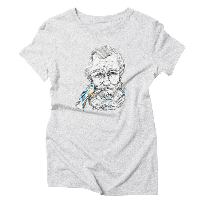 Beards Nest Women's Triblend T-Shirt by jojostudio's Artist Shop