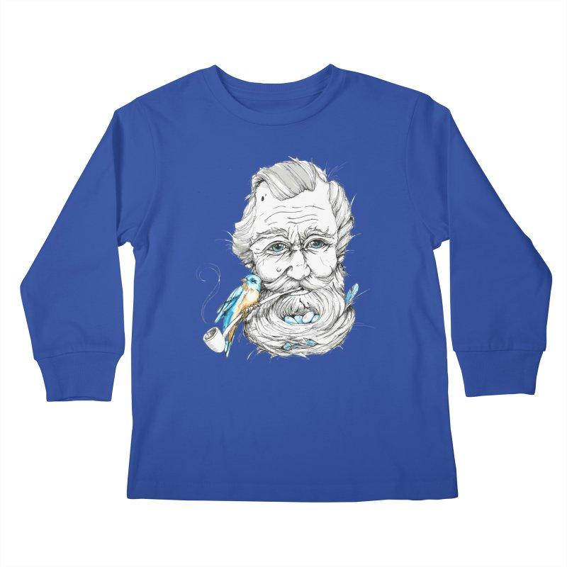 Beards Nest Kids Longsleeve T-Shirt by jojostudio's Artist Shop