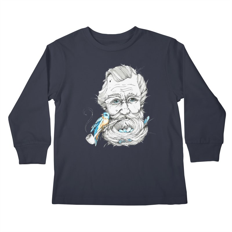 Beards Nest Kids Longsleeve T-Shirt by jojostudio's Artist Shop