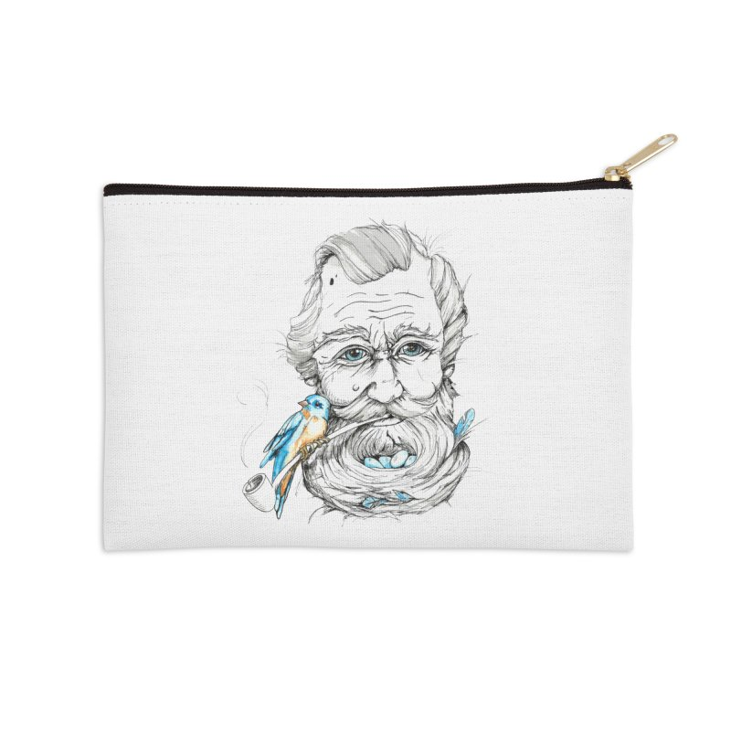 Beards Nest Accessories Zip Pouch by jojostudio's Artist Shop
