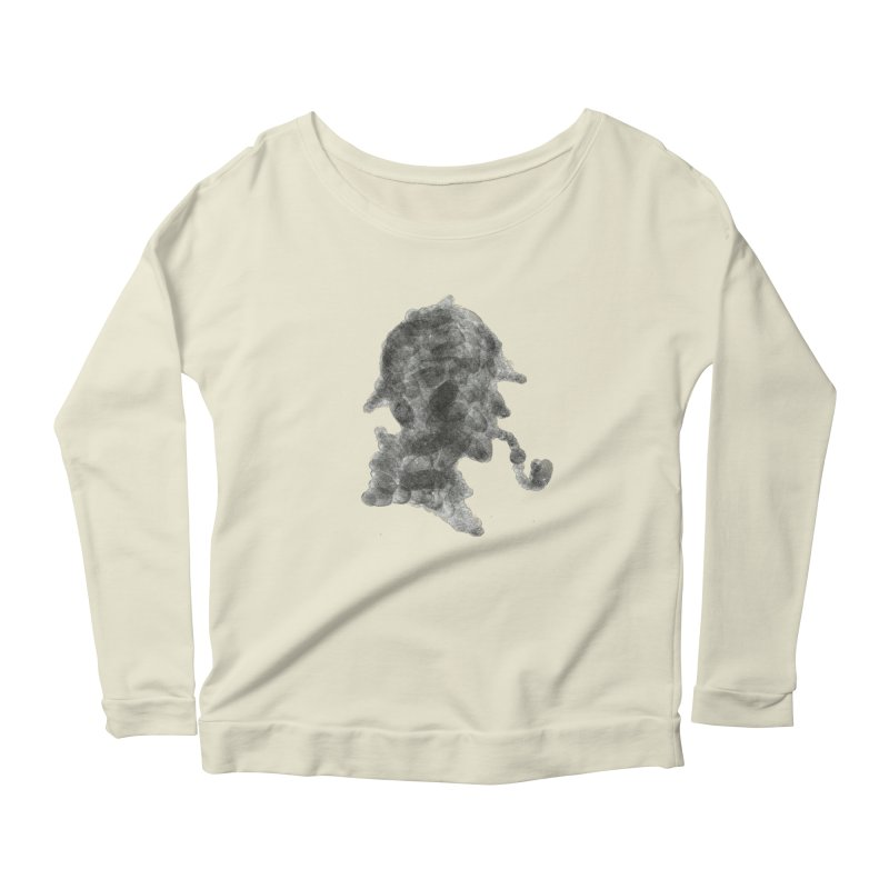 Mr Holmes Women's Scoop Neck Longsleeve T-Shirt by jojostudio's Artist Shop