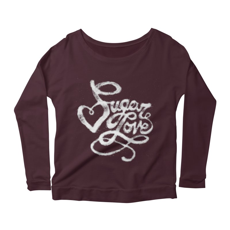 Sugar Love Women's Scoop Neck Longsleeve T-Shirt by jojostudio's Artist Shop