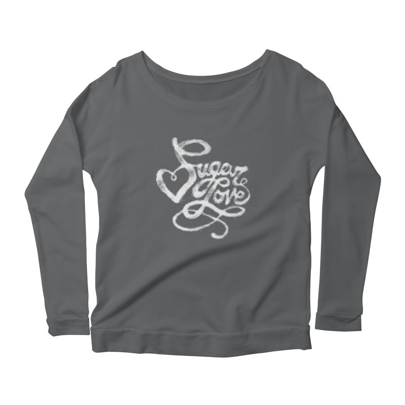 Sugar Love Women's Longsleeve Scoopneck  by jojostudio's Artist Shop