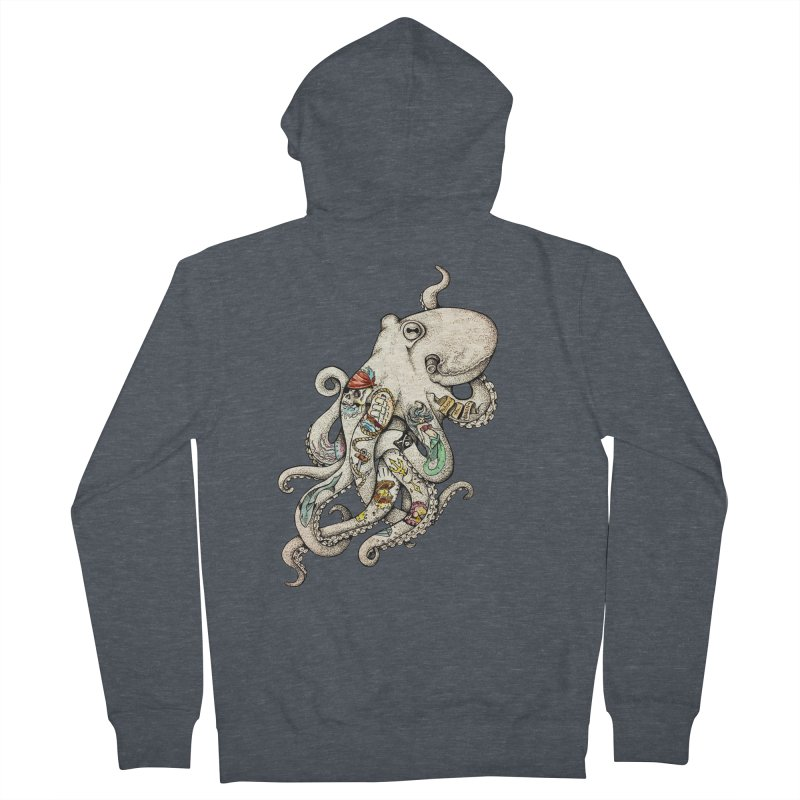 INK'D Men's Zip-Up Hoody by jojostudio's Artist Shop