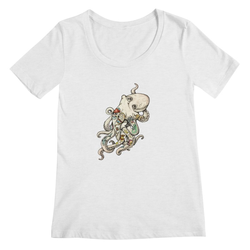INK'D Women's Regular Scoop Neck by jojostudio's Artist Shop