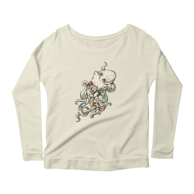 INK'D Women's Longsleeve Scoopneck  by jojostudio's Artist Shop