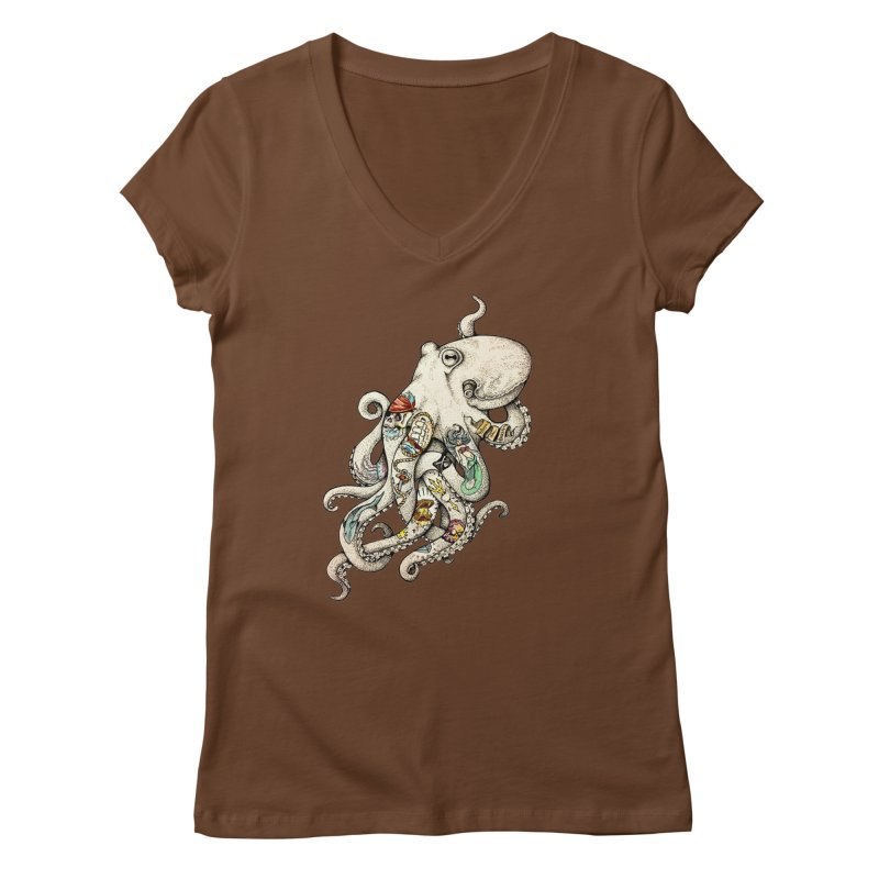 INK'D Women's V-Neck by jojostudio's Artist Shop
