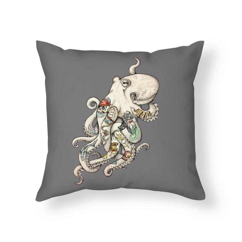 INK'D Home Throw Pillow by jojostudio's Artist Shop
