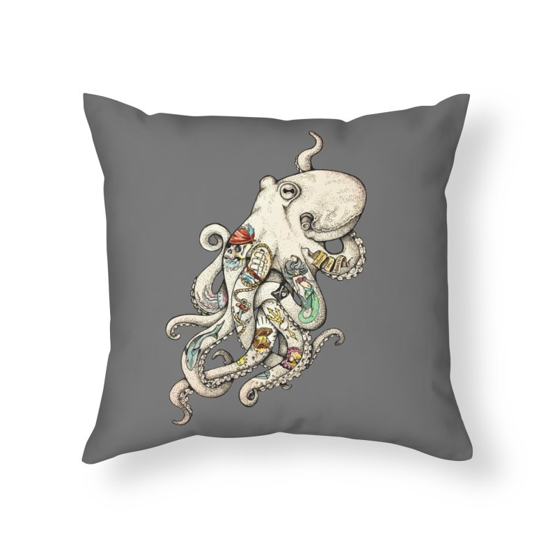 INK'D Home Throw Pillow by jojostudio's Artist Shop