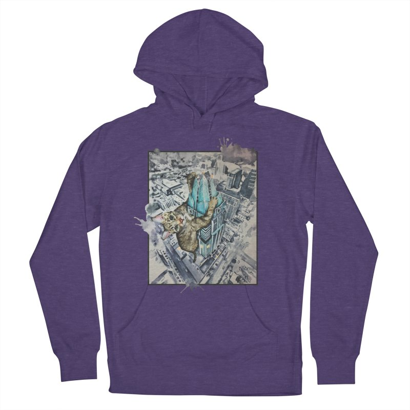 KITTY KONG (ATX) Men's French Terry Pullover Hoody by jojostudio's Artist Shop