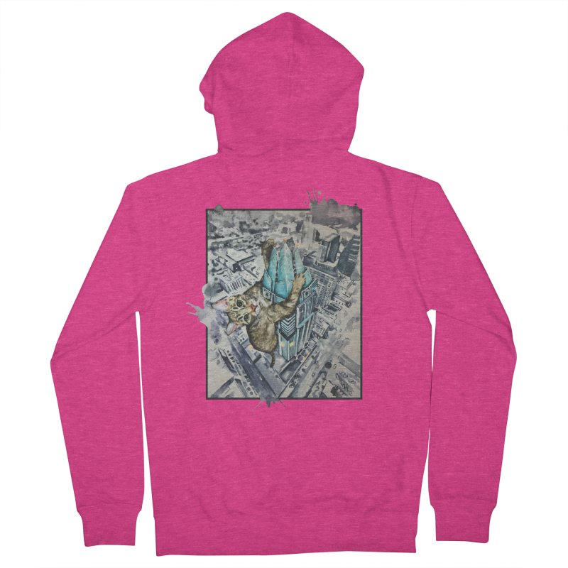 KITTY KONG (ATX) Women's Zip-Up Hoody by jojostudio's Artist Shop