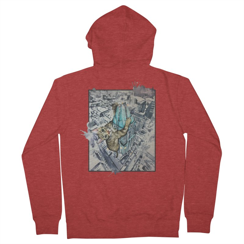 KITTY KONG (ATX) Men's Zip-Up Hoody by jojostudio's Artist Shop