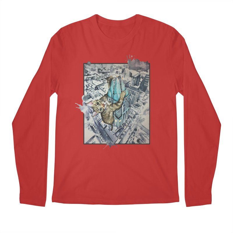 KITTY KONG (ATX) Men's Regular Longsleeve T-Shirt by jojostudio's Artist Shop