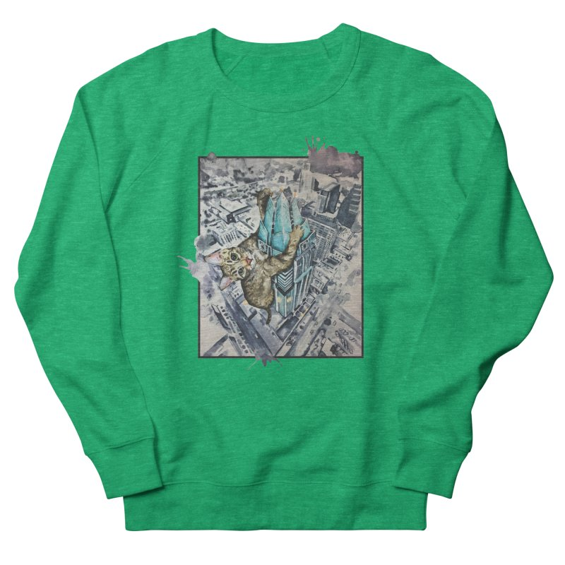KITTY KONG (ATX) Women's French Terry Sweatshirt by jojostudio's Artist Shop