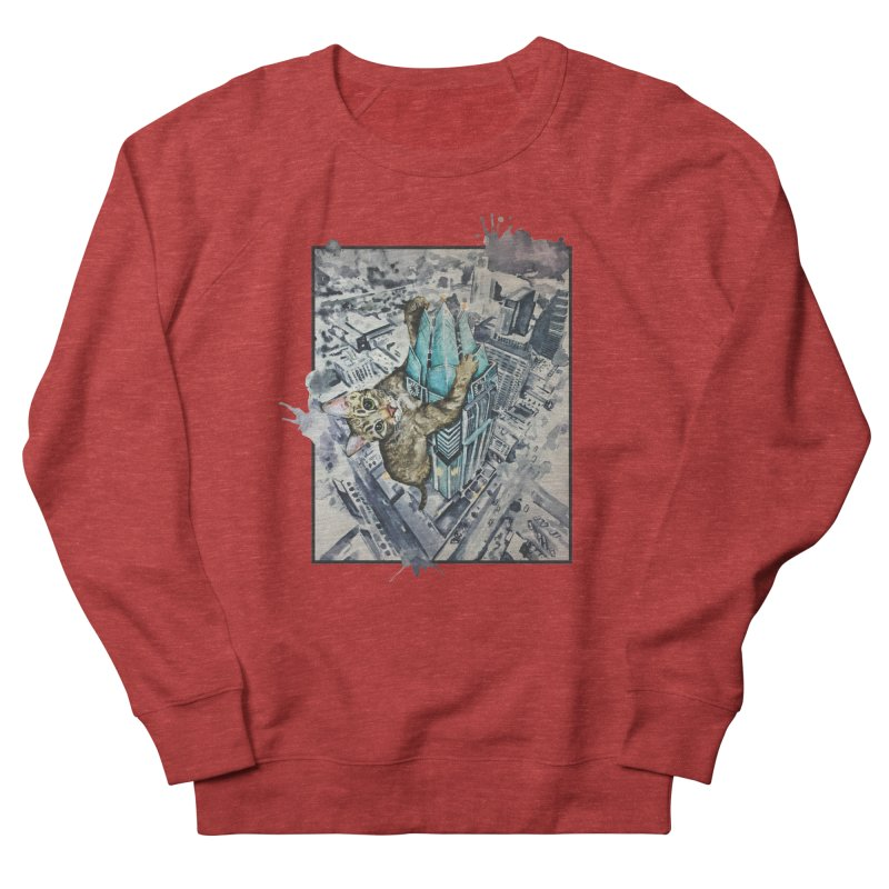KITTY KONG (ATX) Men's French Terry Sweatshirt by jojostudio's Artist Shop
