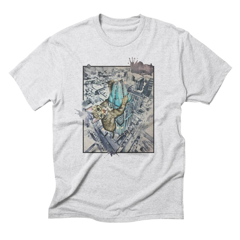KITTY KONG (ATX) Men's Triblend T-Shirt by jojostudio's Artist Shop