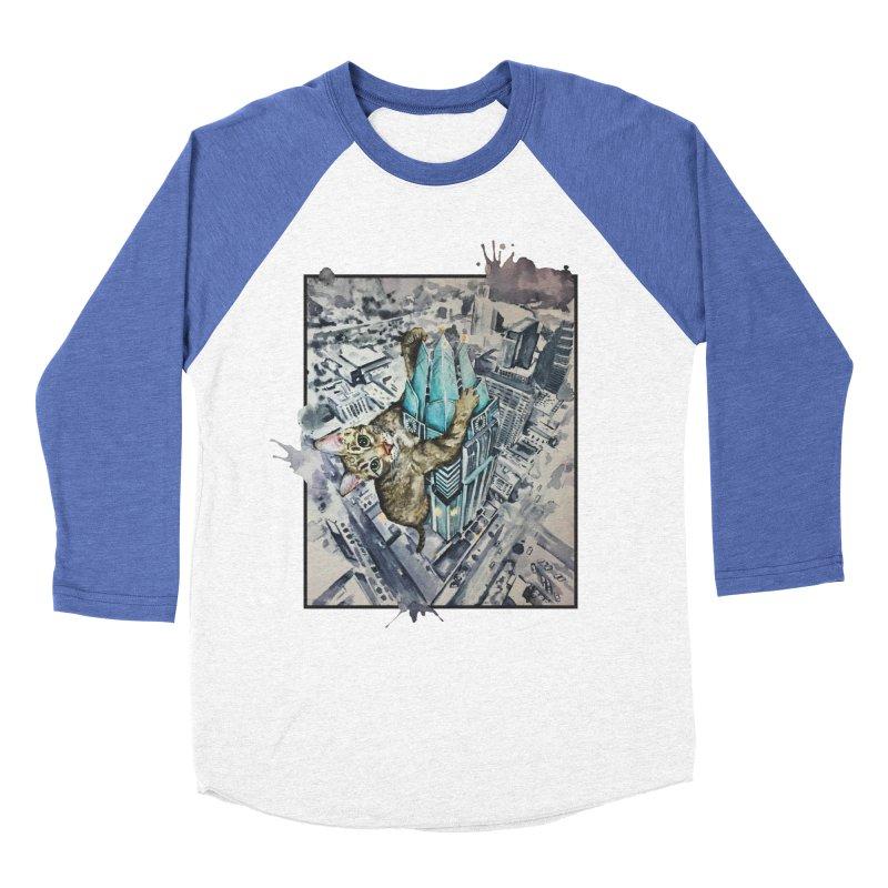 KITTY KONG (ATX) Women's Baseball Triblend T-Shirt by jojostudio's Artist Shop