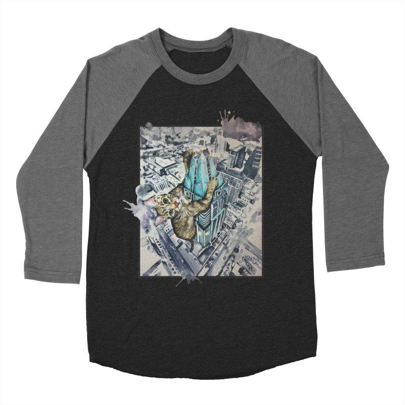 KITTY KONG (ATX) Women's Baseball Triblend Longsleeve T-Shirt by jojostudio's Artist Shop