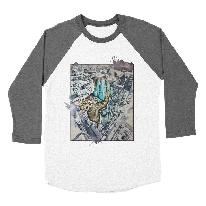 KITTY KONG (ATX) Men's Baseball Triblend T-Shirt by jojostudio's Artist Shop