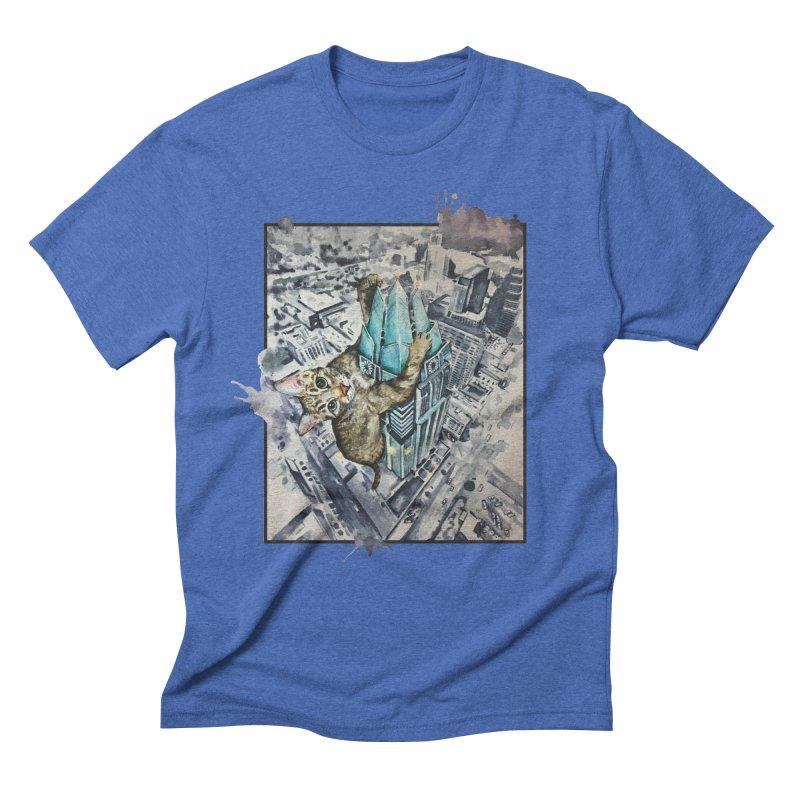 KITTY KONG (ATX) Men's Triblend T-shirt by jojostudio's Artist Shop
