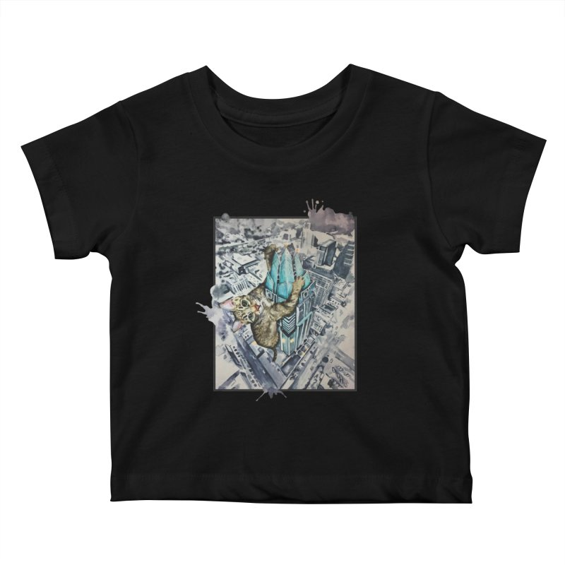 KITTY KONG (ATX) Kids Baby T-Shirt by jojostudio's Artist Shop