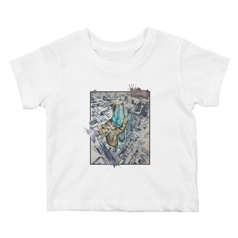 KITTY KONG (ATX) Kids Baby T-Shirt by jojostudio's Artist Shop