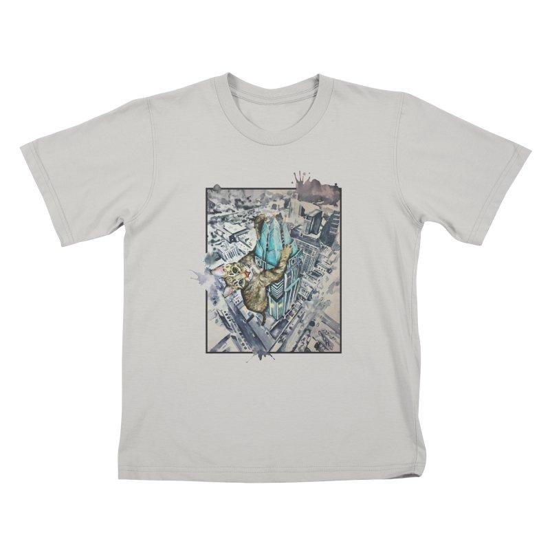 KITTY KONG (ATX) Kids T-shirt by jojostudio's Artist Shop