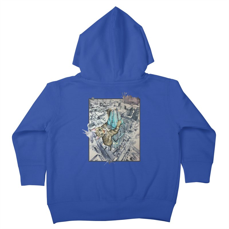 KITTY KONG (ATX) Kids Toddler Zip-Up Hoody by jojostudio's Artist Shop