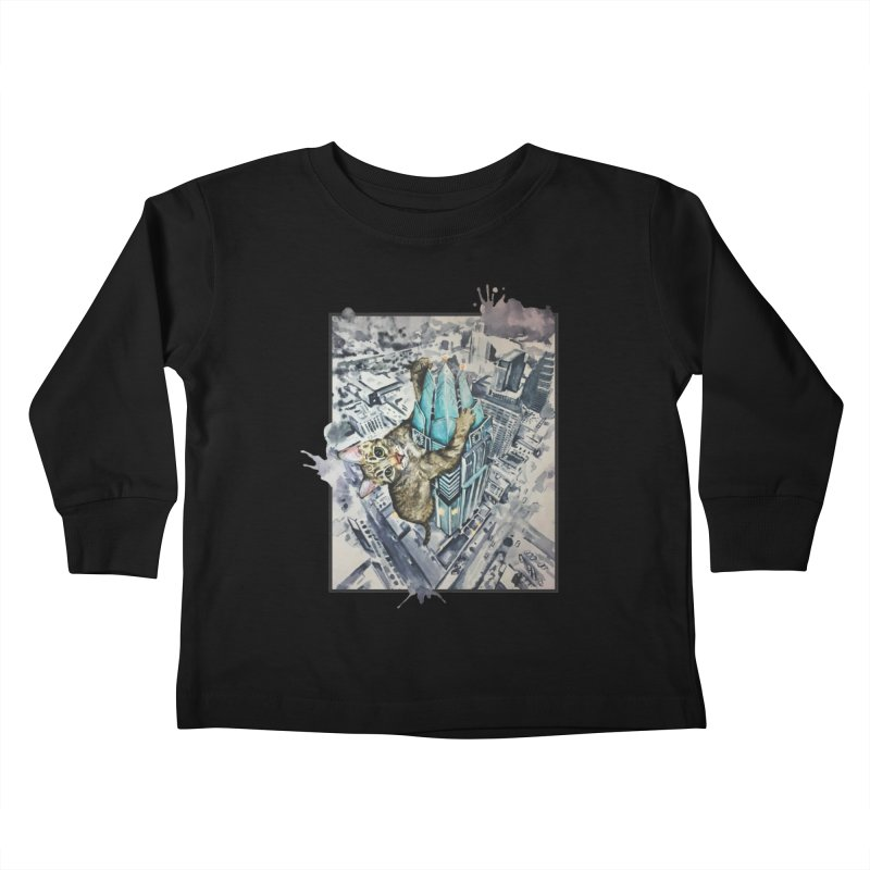 KITTY KONG (ATX) Kids Toddler Longsleeve T-Shirt by jojostudio's Artist Shop