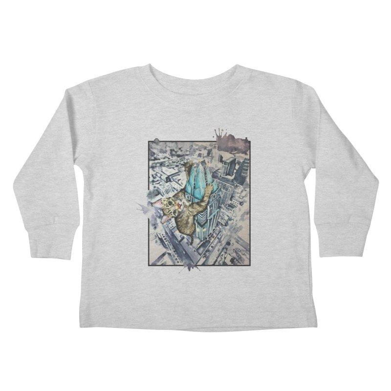 KITTY KONG (ATX) Kids Toddler Longsleeve T-Shirt by jojostudio's Artist Shop