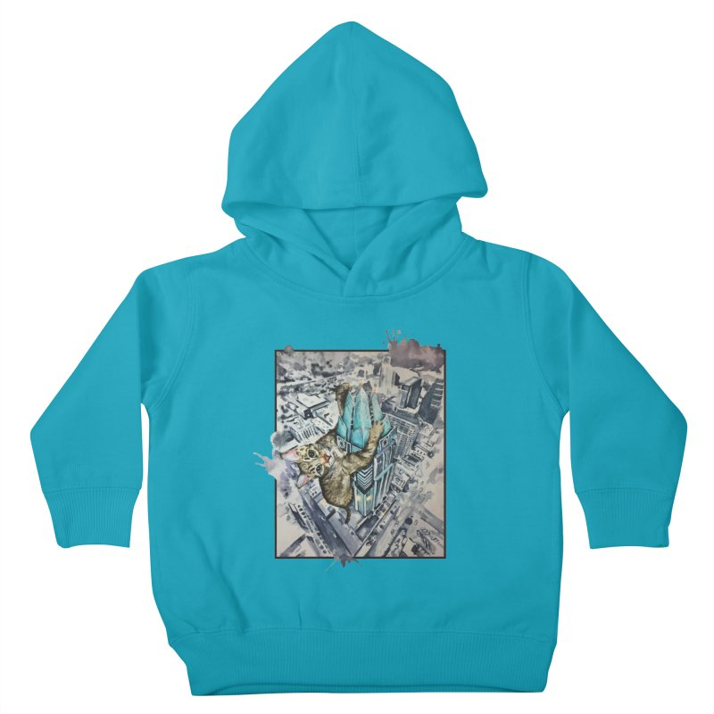 KITTY KONG (ATX) Kids Toddler Pullover Hoody by jojostudio's Artist Shop