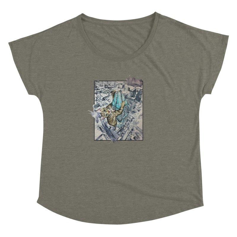 KITTY KONG (ATX) Women's Dolman Scoop Neck by jojostudio's Artist Shop