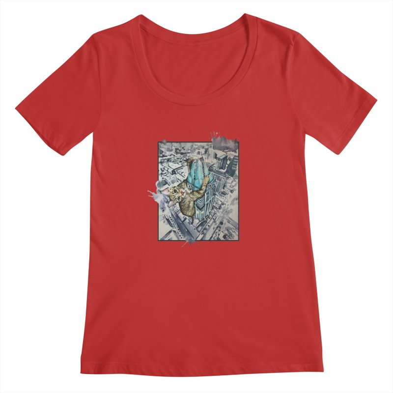 KITTY KONG (ATX) Women's Regular Scoop Neck by jojostudio's Artist Shop