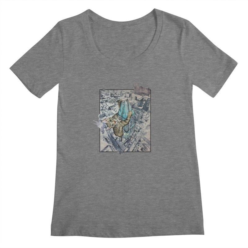 KITTY KONG (ATX) Women's Scoopneck by jojostudio's Artist Shop