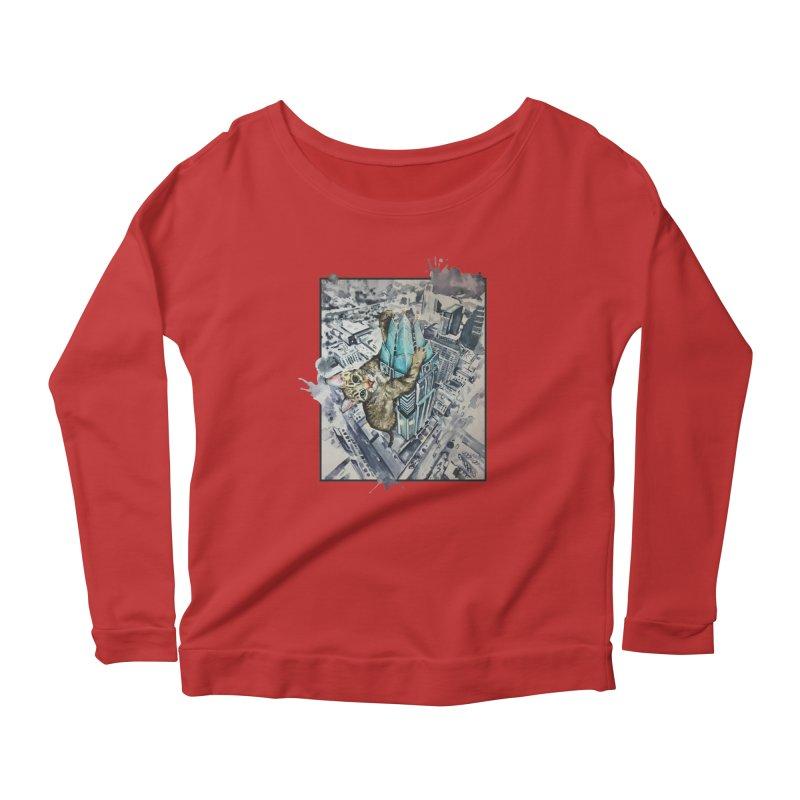 KITTY KONG (ATX) Women's Scoop Neck Longsleeve T-Shirt by jojostudio's Artist Shop