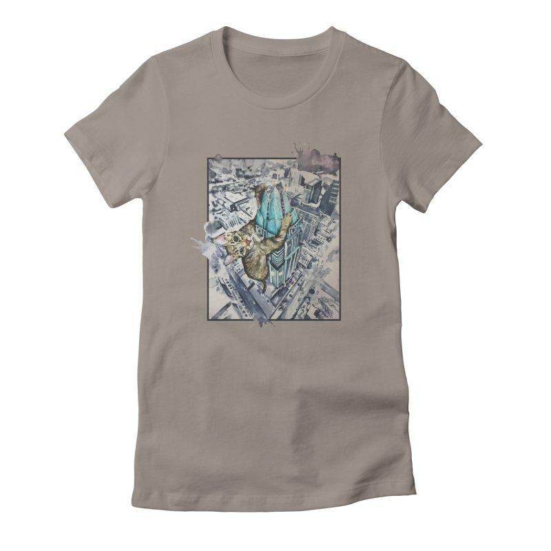 KITTY KONG (ATX) Women's Fitted T-Shirt by jojostudio's Artist Shop
