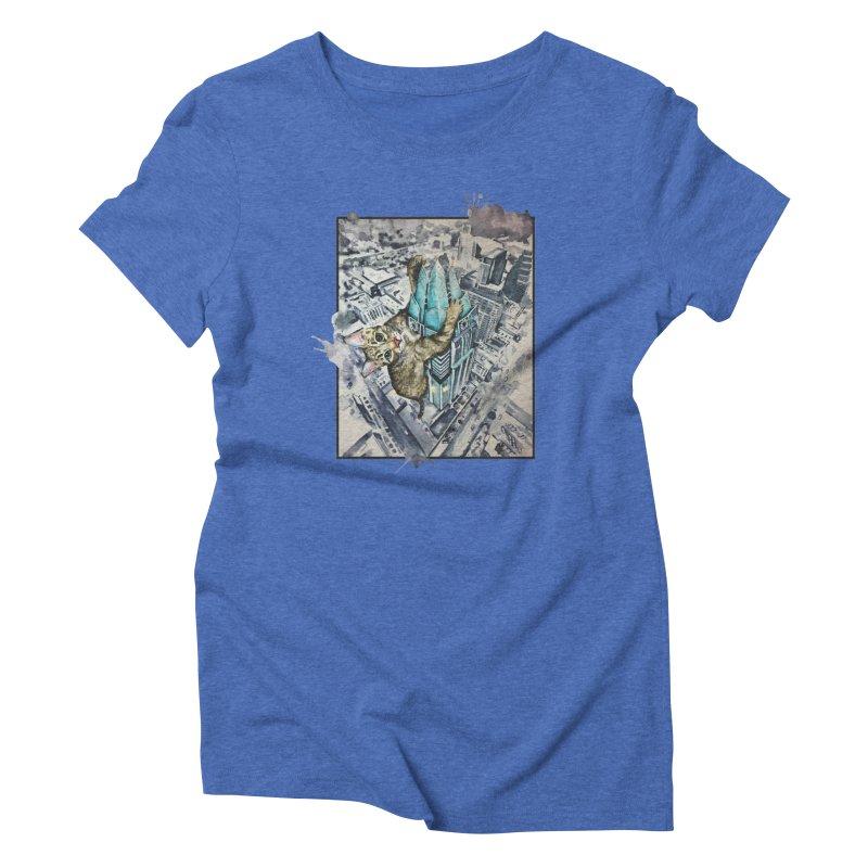 KITTY KONG (ATX) Women's Triblend T-Shirt by jojostudio's Artist Shop