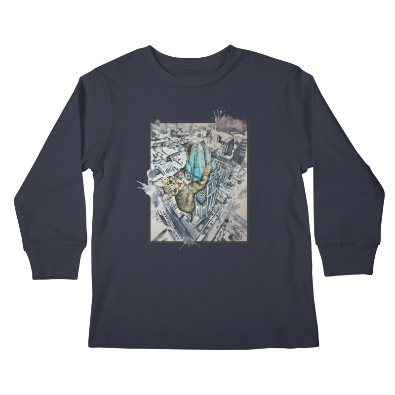 KITTY KONG (ATX) Kids Longsleeve T-Shirt by jojostudio's Artist Shop