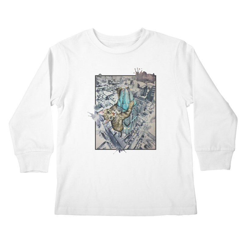 KITTY KONG (ATX) Kids Longsleeve T-Shirt by jojostudio's Artist Shop