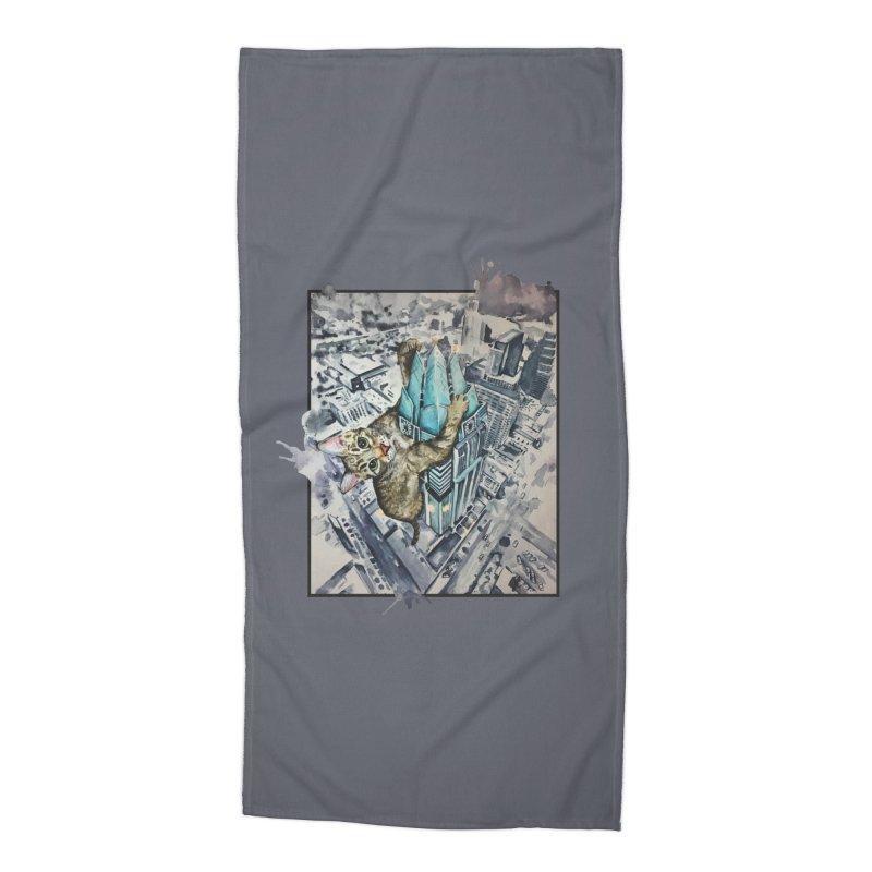 KITTY KONG (ATX) Accessories Beach Towel by jojostudio's Artist Shop