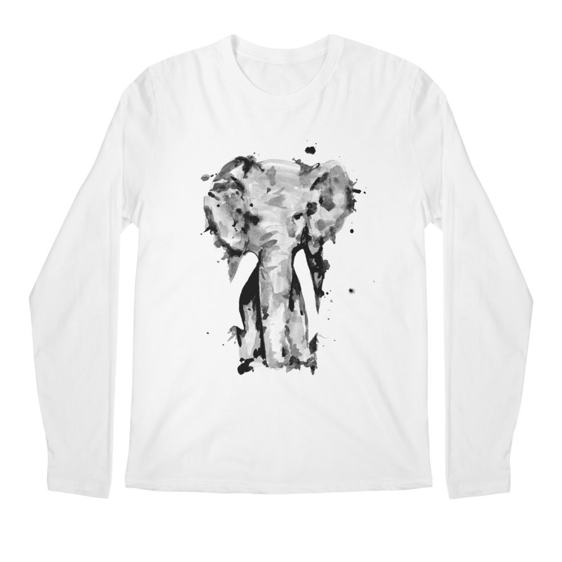 Elephant Men's Longsleeve T-Shirt by jojostudio's Artist Shop
