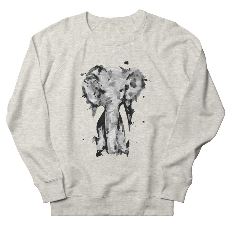 Elephant Women's French Terry Sweatshirt by jojostudio's Artist Shop